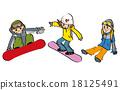 snowboard, snowboarding, man 18125491