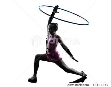 Rhythmic Gymnastics  little girl silhouette 18125835