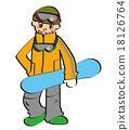 snowboard, snowboarding, sport 18126764