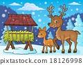 사슴, 노루, 겨울 18126998