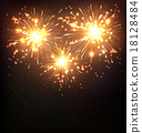 Festive Firework Salute Burst on Black 18128484