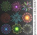 Festive Firework Salute Burst on Transparent 18128487
