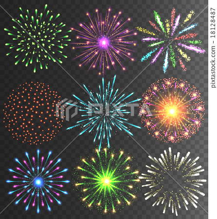 Festive Firework Salute Burst on Transparent 18128487