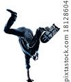 man skateboarder skateboarding silhouette 18128604