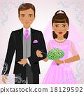 向量 向量圖 新娘 18129592