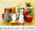 聖誕老人 聖誕老公公 雪人 18132695