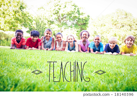 Teaching against happy friends in the park 18140396