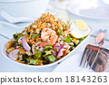 Thai Spicy salad with shrimp and vegetables 18143263