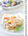 Fried rice with big shrimps, Thai food 18143276