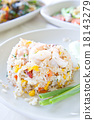 Fried rice with big shrimps, Thai food 18143279