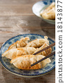 Asian cuisine pan fried dumplings 18143877