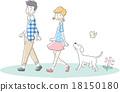 男性女性夫婦狗 18150180