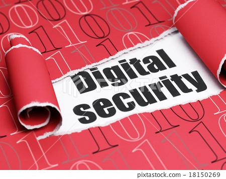 Security concept: black text Digital Security 18150269