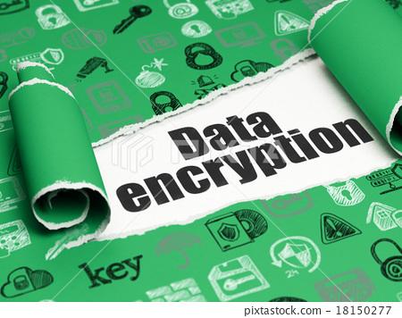 Safety concept: black text Data Encryption under 18150277
