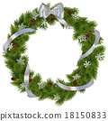 Vector Christmas Wreath with Snowflakes 18150833