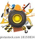 construction, wheel, concept 18150834