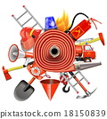 Vector Fire Prevention Concept with Firehose 18150839
