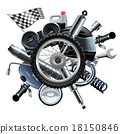 wheel, motorcycle, spares 18150846