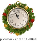 Vector New Year Concept with Clock 18150848