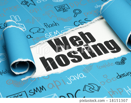 Web development concept: black text Web Hosting 18151307