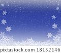 雪 下雪的 雪花 18152146