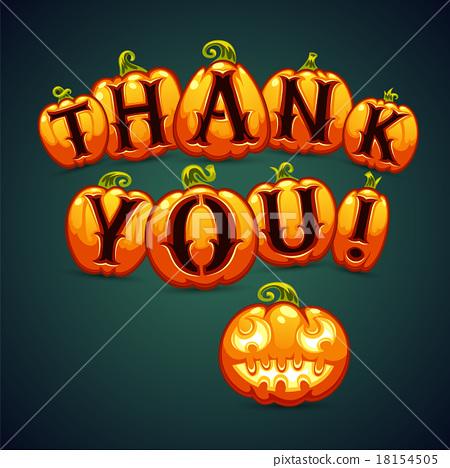 Halloween Pumpkin Says Thank You 18154505