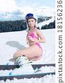 Portrait in ski mask and helmet 18156236