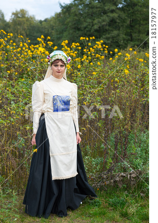 Jewish woman dressed in costumes 19th century 18157977