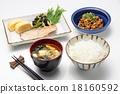早餐 早餐的景象 和食 18160592