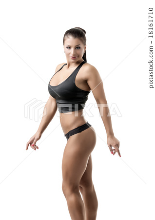 Image of hot female bodybuilder with big boobs 18161710