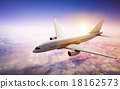 Airplane Skyline Horizon Flight Cloud Concept 18162573