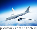Airplane Skyline Horizon Flight Cloud Concept 18162639