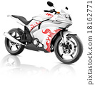 Motorcycle Motorbike Bike Riding Rider Contemporary White Concep 18162771