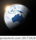 Sun over Australia on planet Earth 18171628