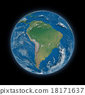 South America on planet Earth 18171637