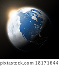 Sun over North America on planet Earth 18171644