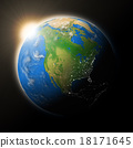 Sun over North America on planet Earth 18171645