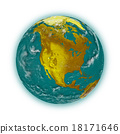 North America on planet Earth 18171646