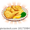 Real fried chicken with background 18173984