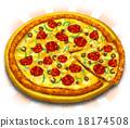 披薩 真實 法國食品 18174508