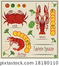 Menu cancer, shrimp, crab, lemon 18180110