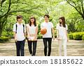 大學生 男女 行走 18185622