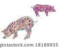 two ethnic pigs 18189935