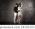 Beautiful couple in the active ballroom dance 18192201