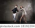 Beautiful couple in the active ballroom dance 18192204