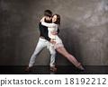 Beautiful couple in the active ballroom dance 18192212