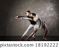 Beautiful couple in the active ballroom dance 18192222