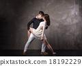 Beautiful couple in the active ballroom dance 18192229