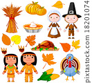 Thanksgiving icon set 18201074