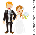 wedding, heterosexual couple, vectors 18202470